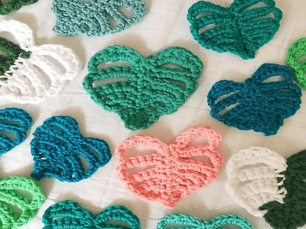 Crochet Monstera Leaf Pattern by She Makes Whatever
