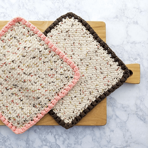 Moss Stitch Dishcloth Crochet Pattern by Just Be Crafty Shop