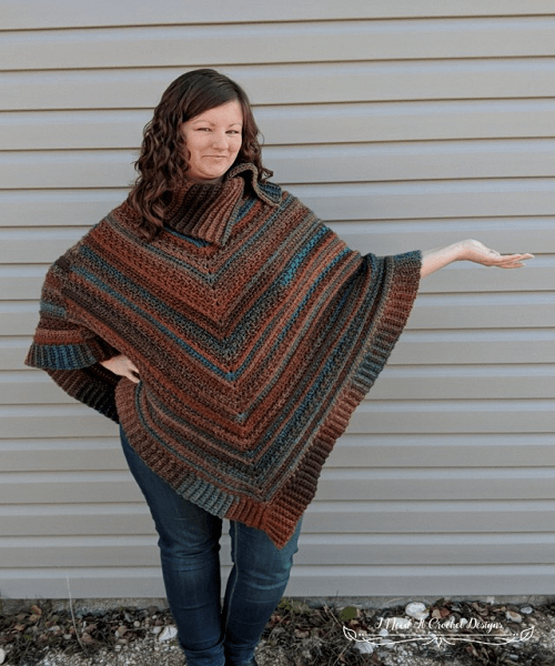 Perfect Poncho Crochet Pattern by I Need It Crochet Designs