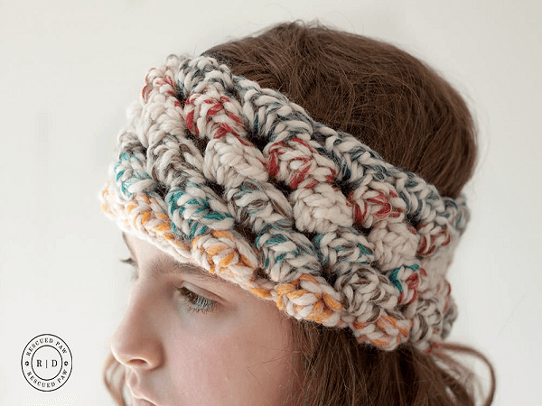 Puffed Crochet Headband Pattern by Rescued Paw Designs