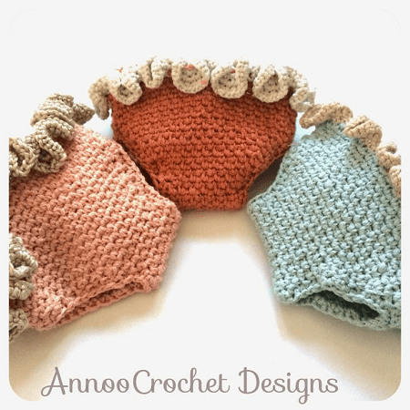 Ruffled Newborn Diaper Cover Crochet Pattern by Annoo's Crochet World
