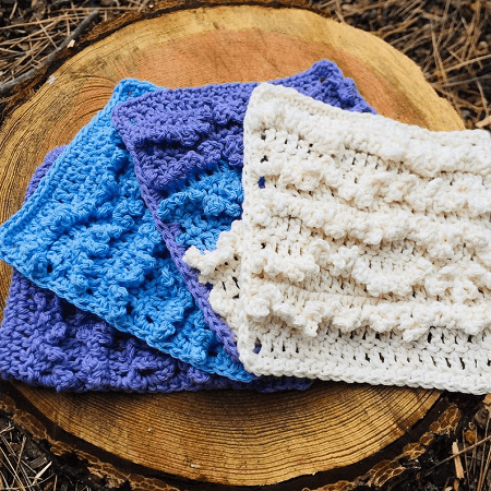 Ruffled Dishcloth Crochet Pattern by North Summit Creations