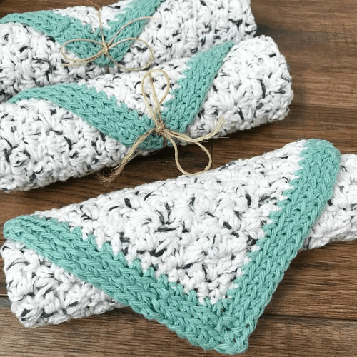 Rustic Farmhouse Dishcloth Crochet Pattern by MJs Off The Hook Designs