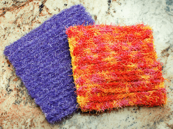 Scrubby Crochet Dishcloth Pattern by Petals To Picots