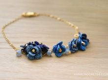 something blue crochet bracelet
