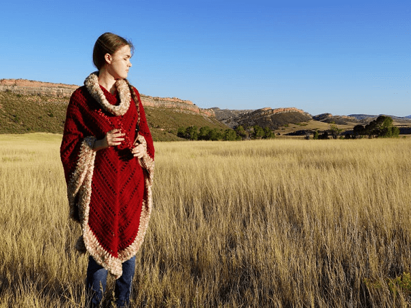 Spiced Cranberry Poncho Crochet Pattern by Colorado Shire