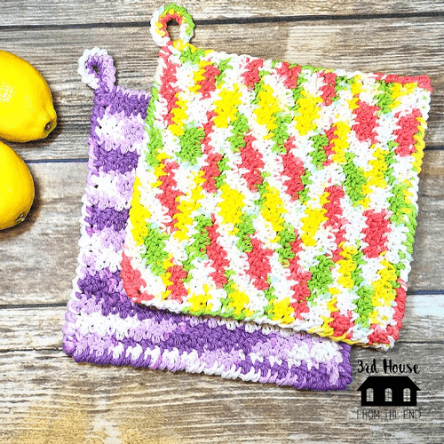 Spring Cleaning Crochet Dishcloth Pattern by 3rd House From The End