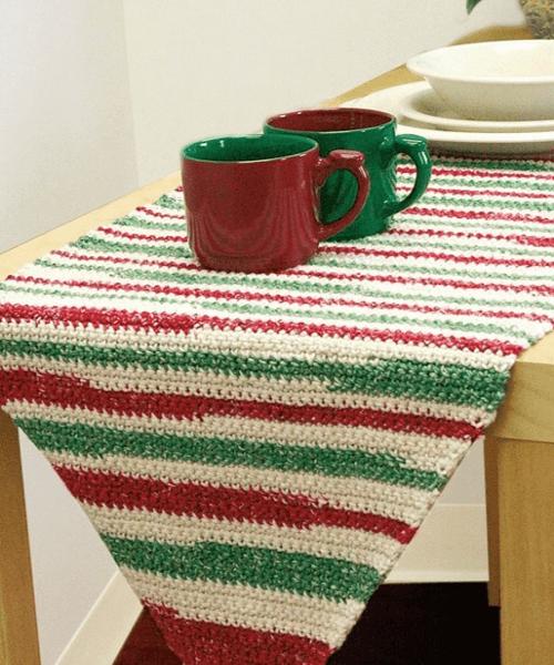 Stripe Table Runner Crochet Pattern by Lily Sugar 'n Cream