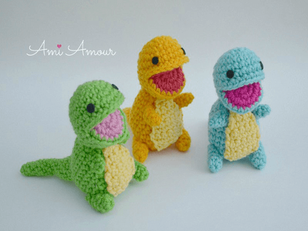 Adorable Amigurumi Alert: Crochet a Pack of Baby Dinosaur WITH ... | 450x600