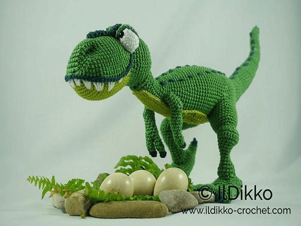 T-mothy The T-Rex Dinosaur Amigurumi Crochet Pattern by Il Dikko