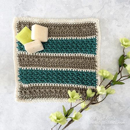 Textured Dishcloth Crochet Pattern by Left In Knots