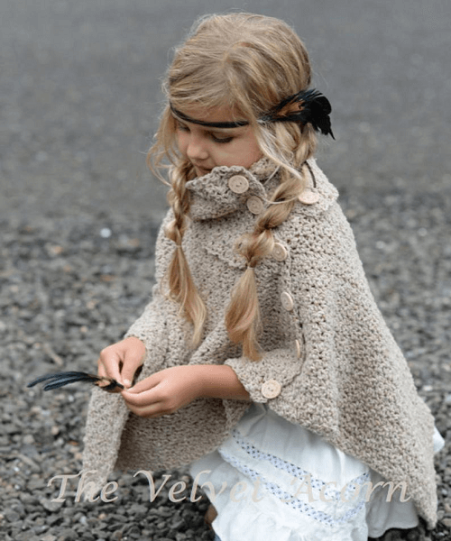 Timberlyn Poncho Crochet Pattern by The Velvet Acorn