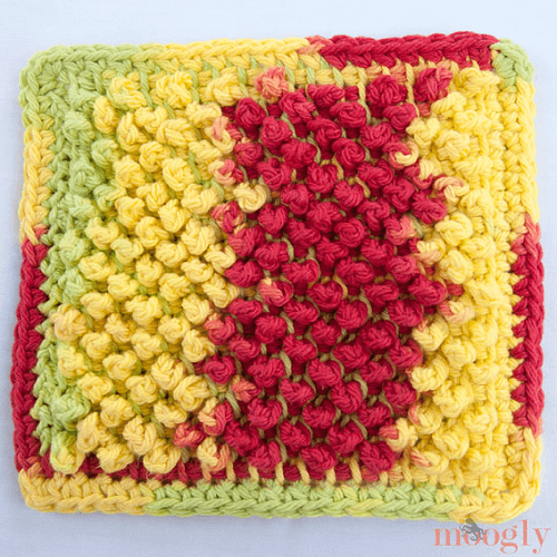 Tunisian Pebbles Dishcloth Crochet Pattern by Tamara Kelly