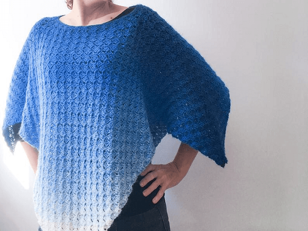 Crochet Unisex Poncho Pattern by Dora Does