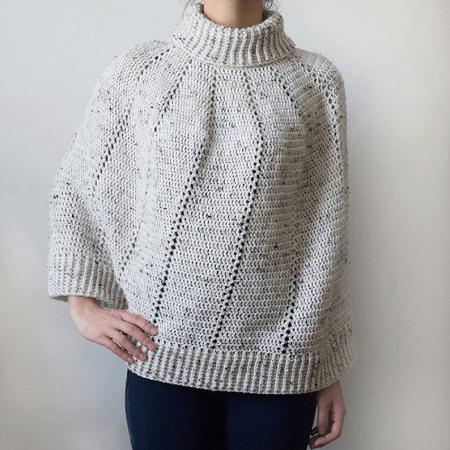 Vertical Eyelet Poncho Crochet Pattern by Crochet Spot Patterns