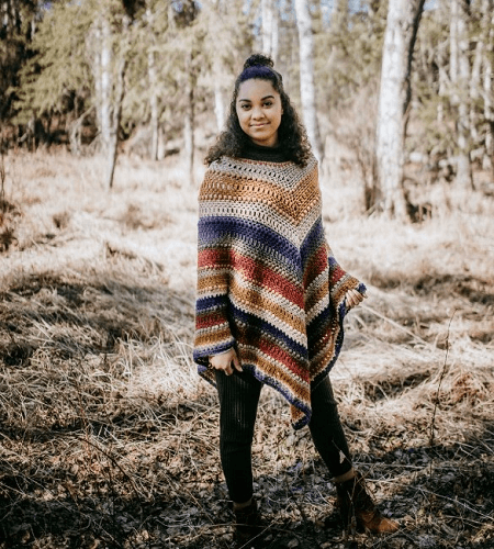 Wasilla Poncho Crochet Pattern by Jennifer Pionk