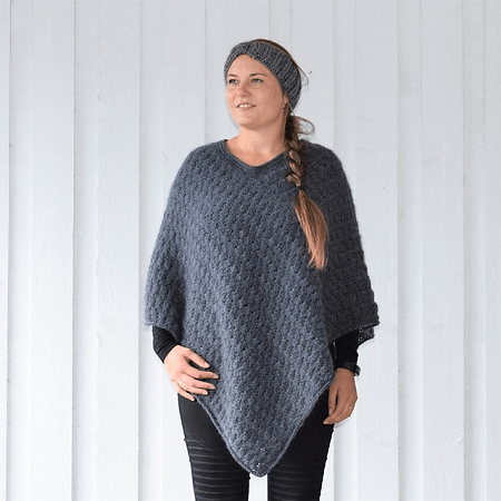Winter Shells Poncho Crochet Pattern by Hobbii Design