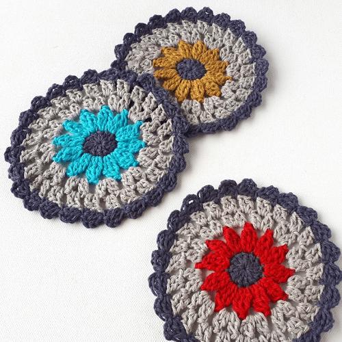 Zesty Coasters Crochet Pattern by Annie Design Crochet