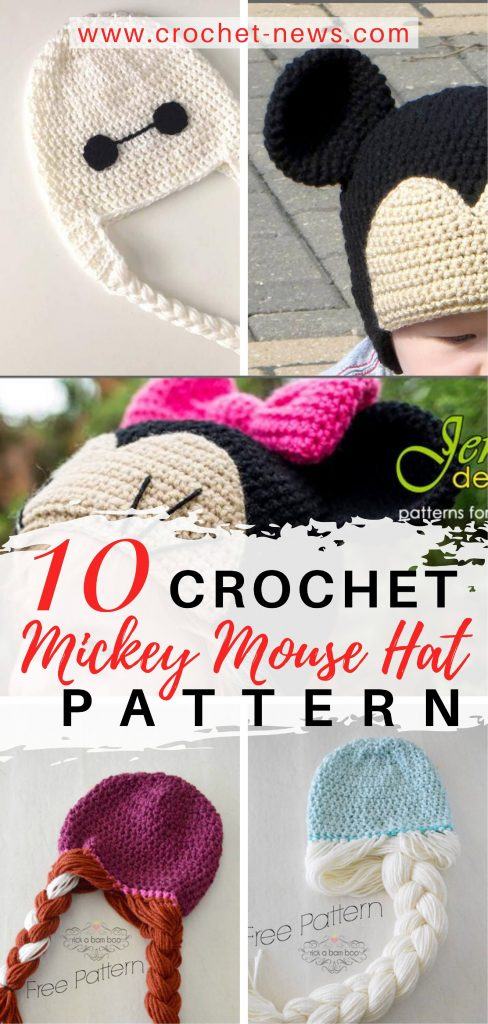 10 Crochet Mickey Mouse Hat Patterns