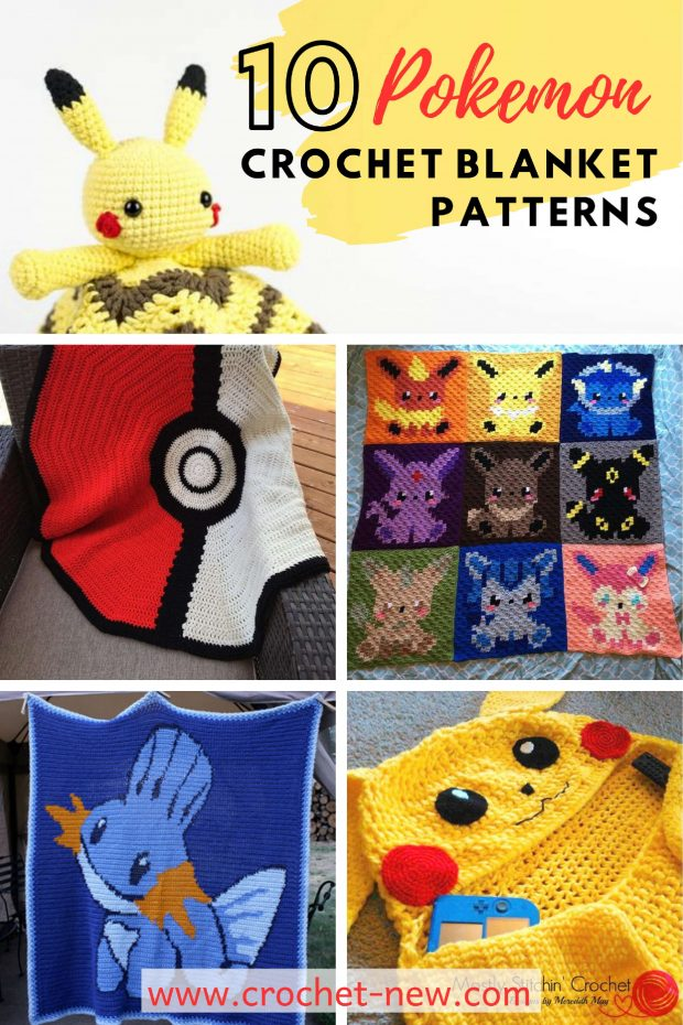 10 Pokemon Crochet Blanket Patterns