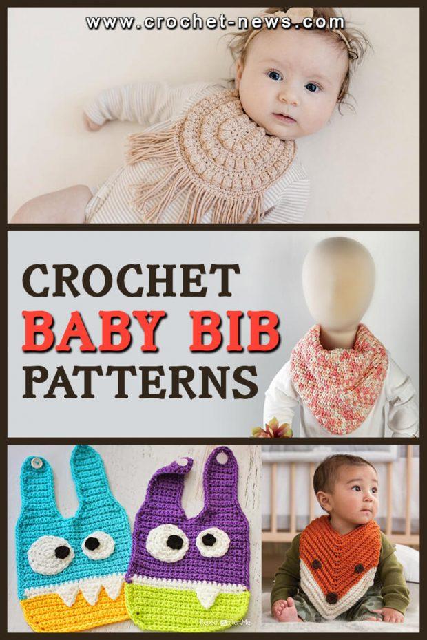 CROCHET BABY BIB PATTERNS