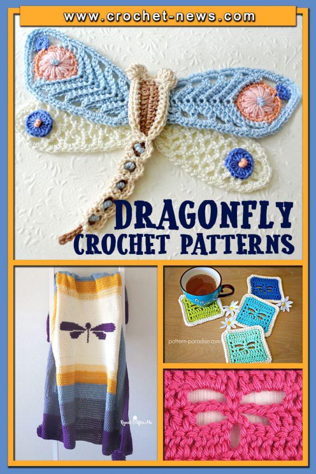 DRAGONFLY CROCHET PATTERNS
