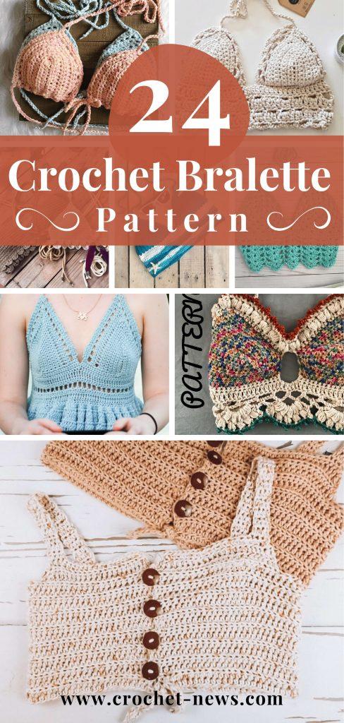 24 Crochet Bralette Pattern