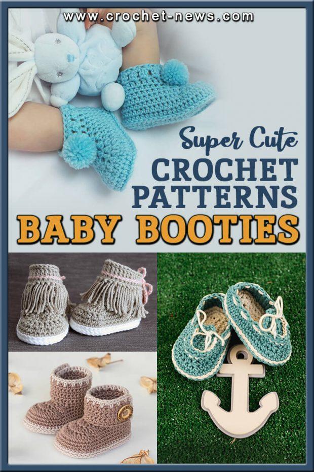 44 SUPER CUTE CROCHET BABY BOOTIES PATTERNS