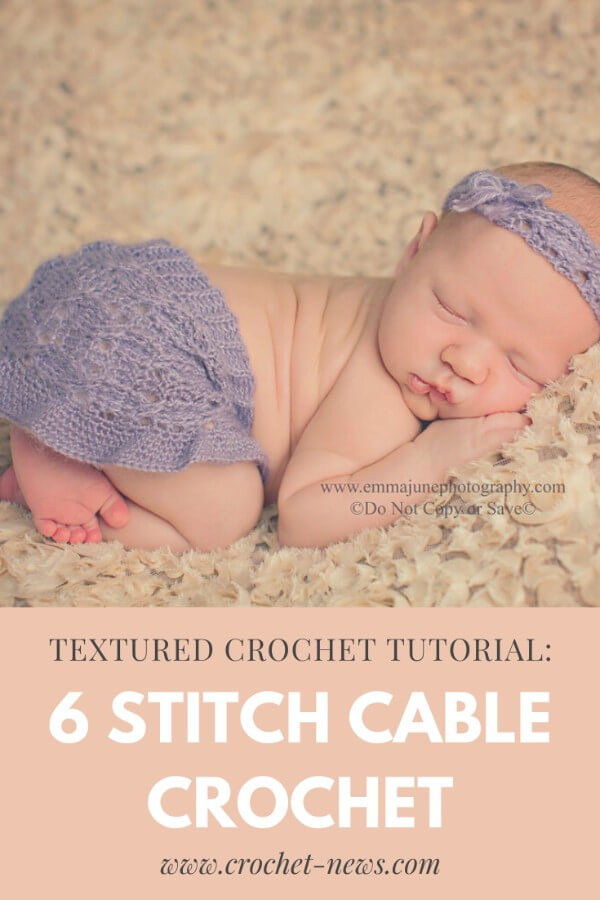 6 cable crochet stitch free pattern