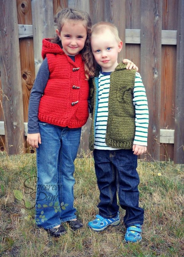 Back to School Toddler Boy Crochet Vest Pattern