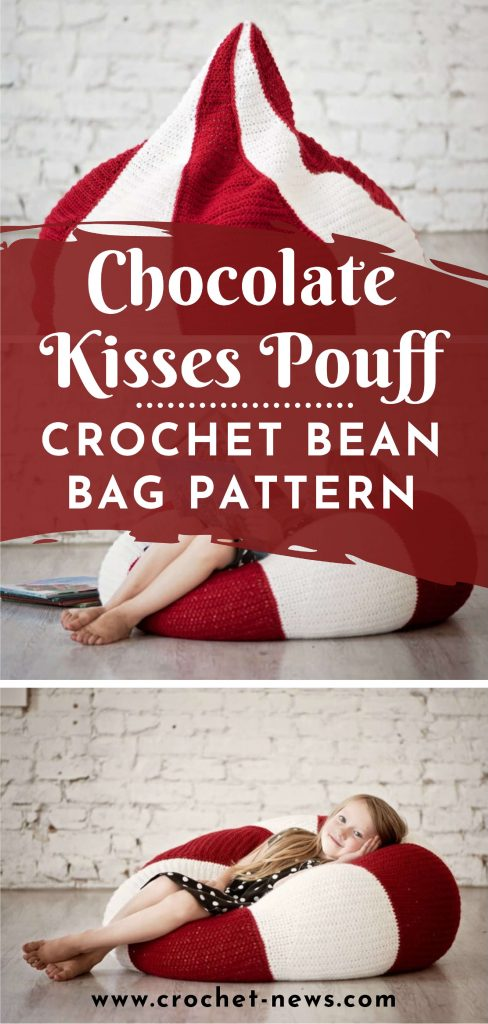 Chocolate Kisses Pouff Crochet Bean Bag Pattern