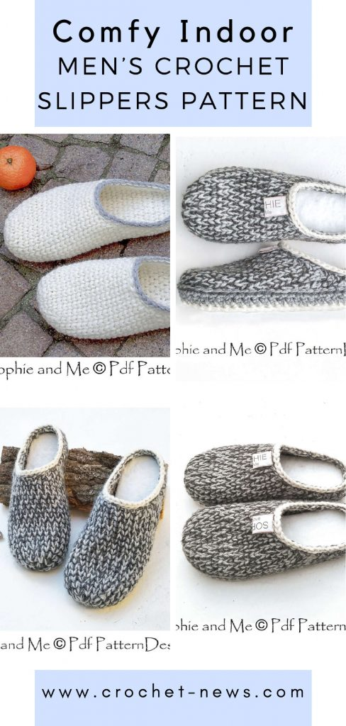 Comfy Indoor Men's Crochet Slippers Pattern