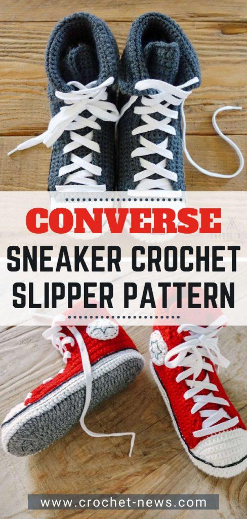 Converse Sneaker Crochet Slipper Pattern