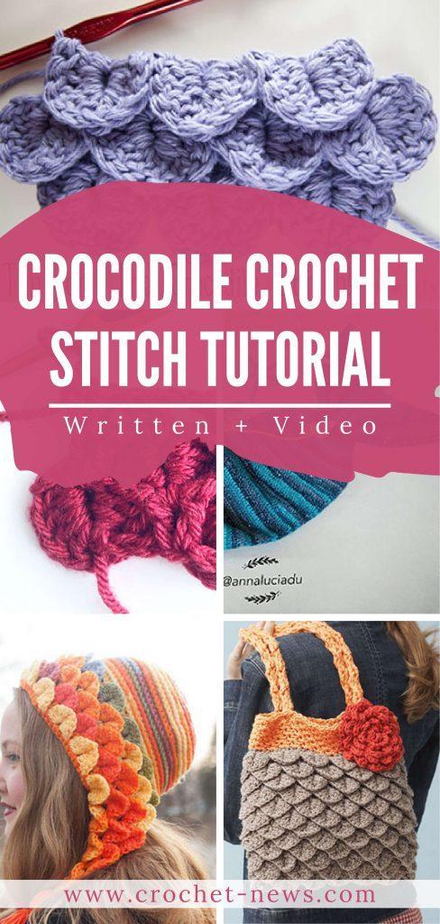 Crocodile Crochet Stitch Tutorial | Written + Video