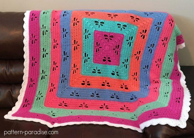 FREE Dragonfly Crochet Blanket Pattern