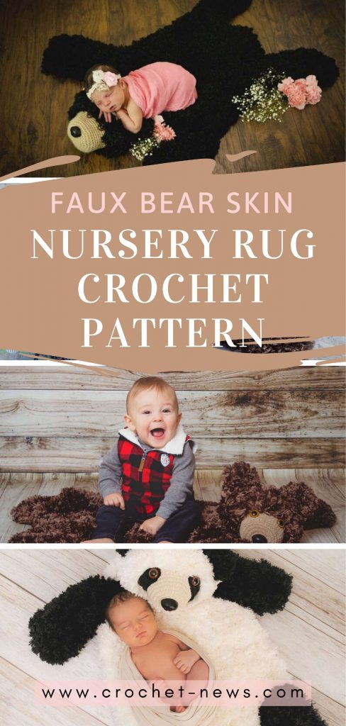 plush crochet bear rug pattern