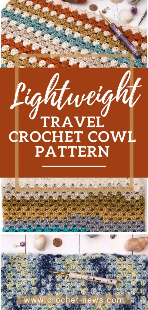 Lightweight Travel Crochet Cowl Pattern