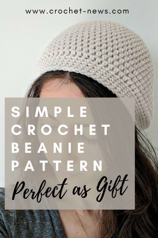 Simple Crochet Beanie Pattern Perfect as Gift