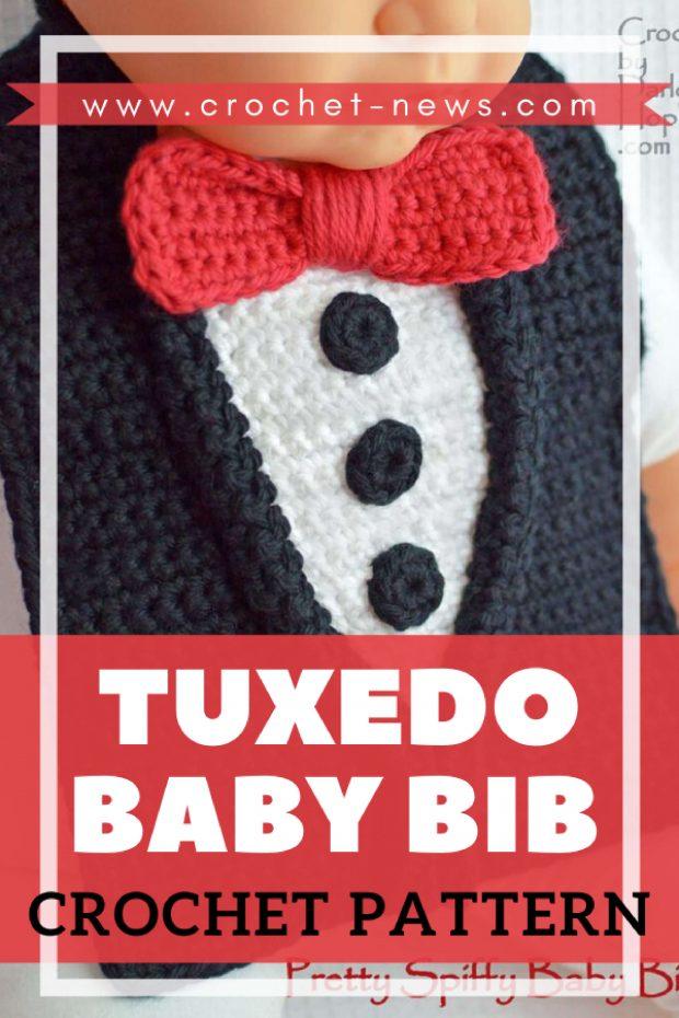 Tuxedo Baby Bib Crochet Pattern