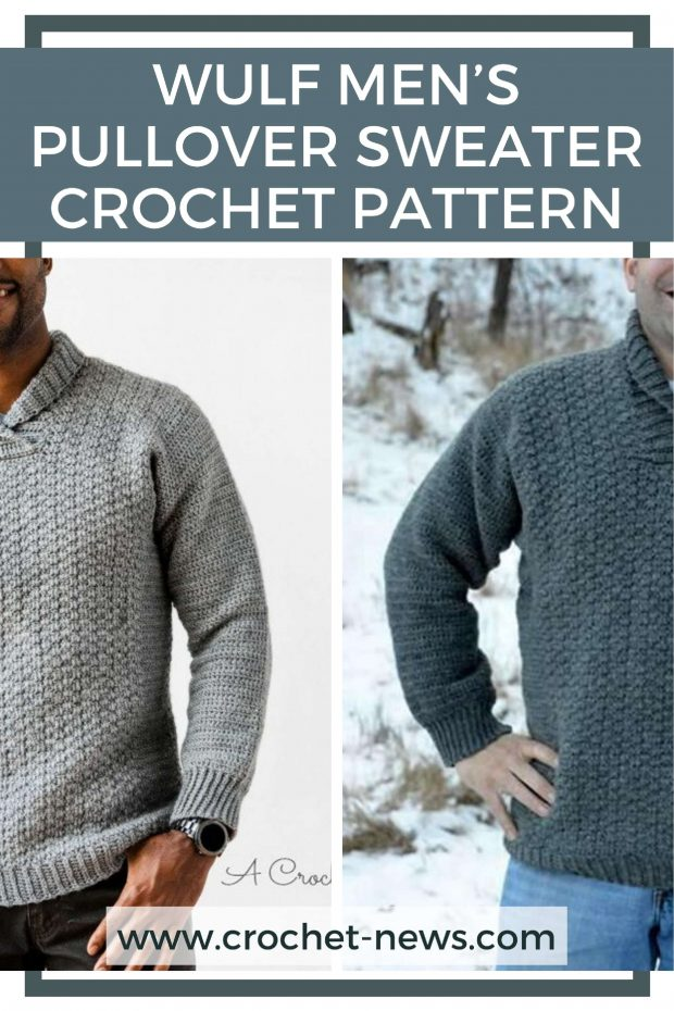 Winter warm Men's Sweater Crochet Pattern