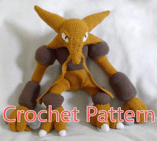 Alakazam Crochet Pattern by The Quaint Cuddlefish