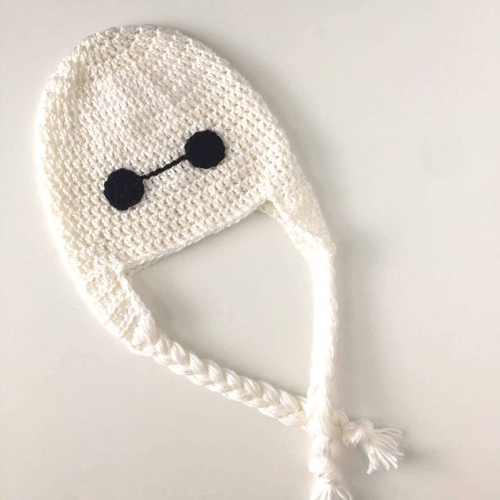 Baymax Crochet Hat Pattern by Hooks And Yarn Studio
