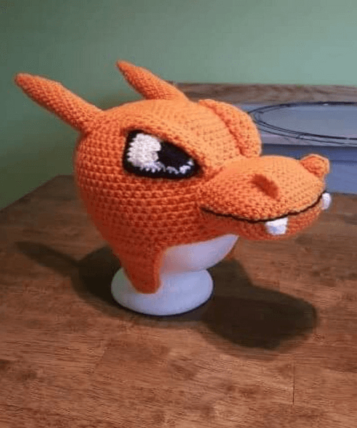 Crochet Charizard Hat Pattern by Jennifers Stitched Up