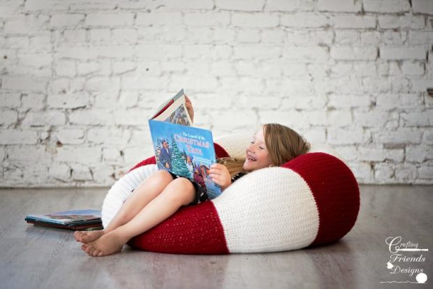chill and relaxing Crochet Bean Bag Pattern