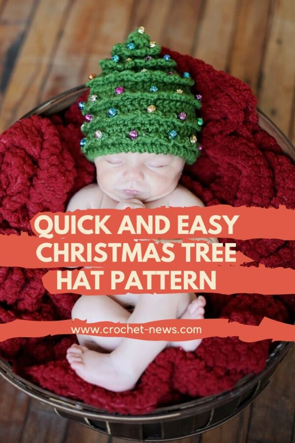 Quick and Easy Christmas Tree Hat Pattern