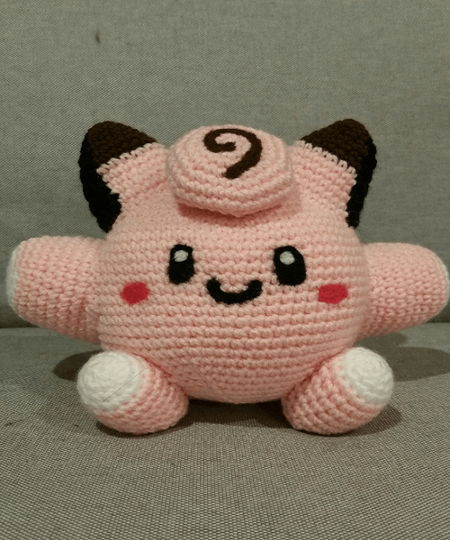 Clefairy Crochet Pattern by May Goh