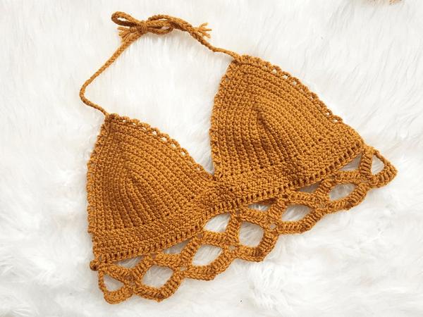 Colette Bralette Crochet Pattern by Knitting By Ali