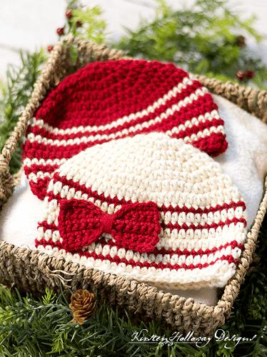 Crochet Baby Beanie Pattern by Kirsten Holloway Designs