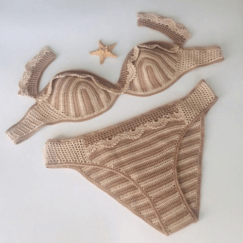 Crochet Bikini Pattern by Hooked By Crochet Art