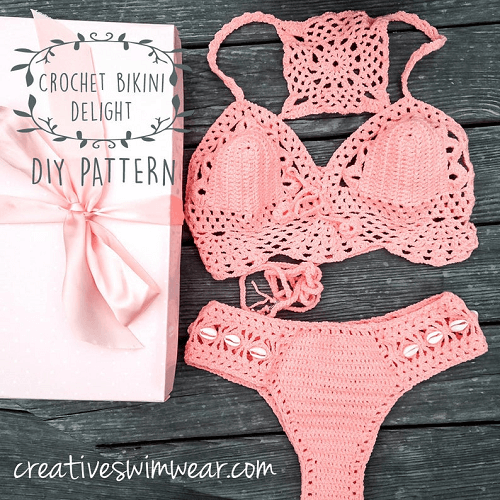 Crochet Bikini Pattern Delight by Art and Seea
